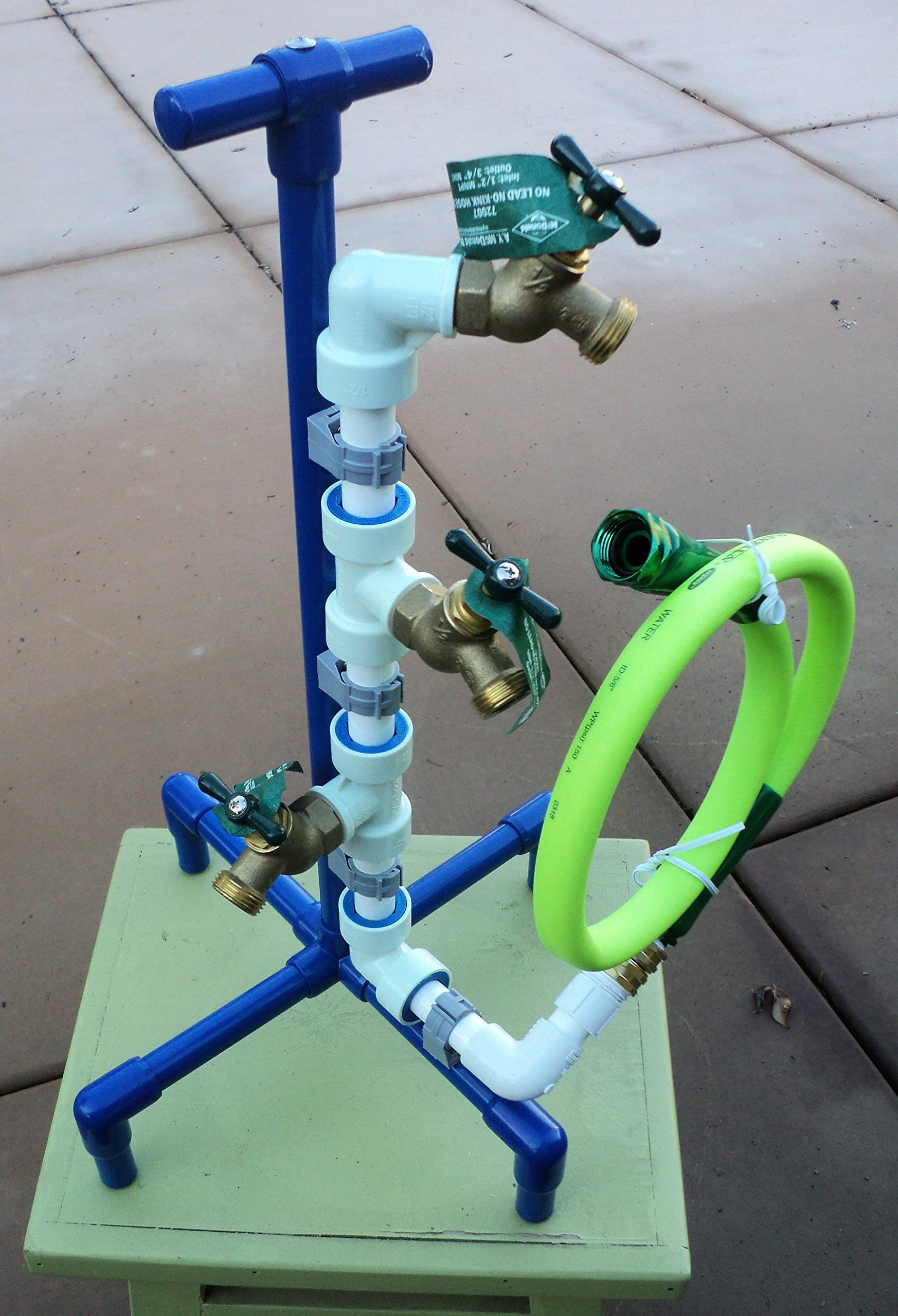 Hose Splitter-Heavy Duty 3 Spigot Garden Hose Bibb Valve Manifold-3 Port Leak Free High Flow Easy Grip Variable Flow Yard Watering Drip Irrigation-Made in USA-Stand Alone Hose Splitter by A. Michael Products - Pleasant Cruise Essentials
