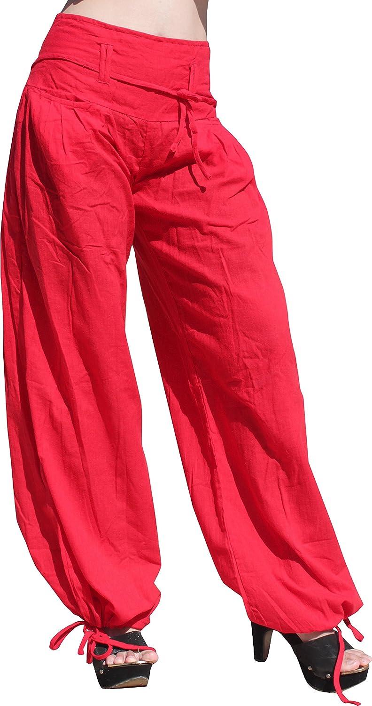 Raan Pah Muang Cotton Buccaneer Tied Leg and Wide Tie Waist Small Rope Pocket Pants variant41040AMZ