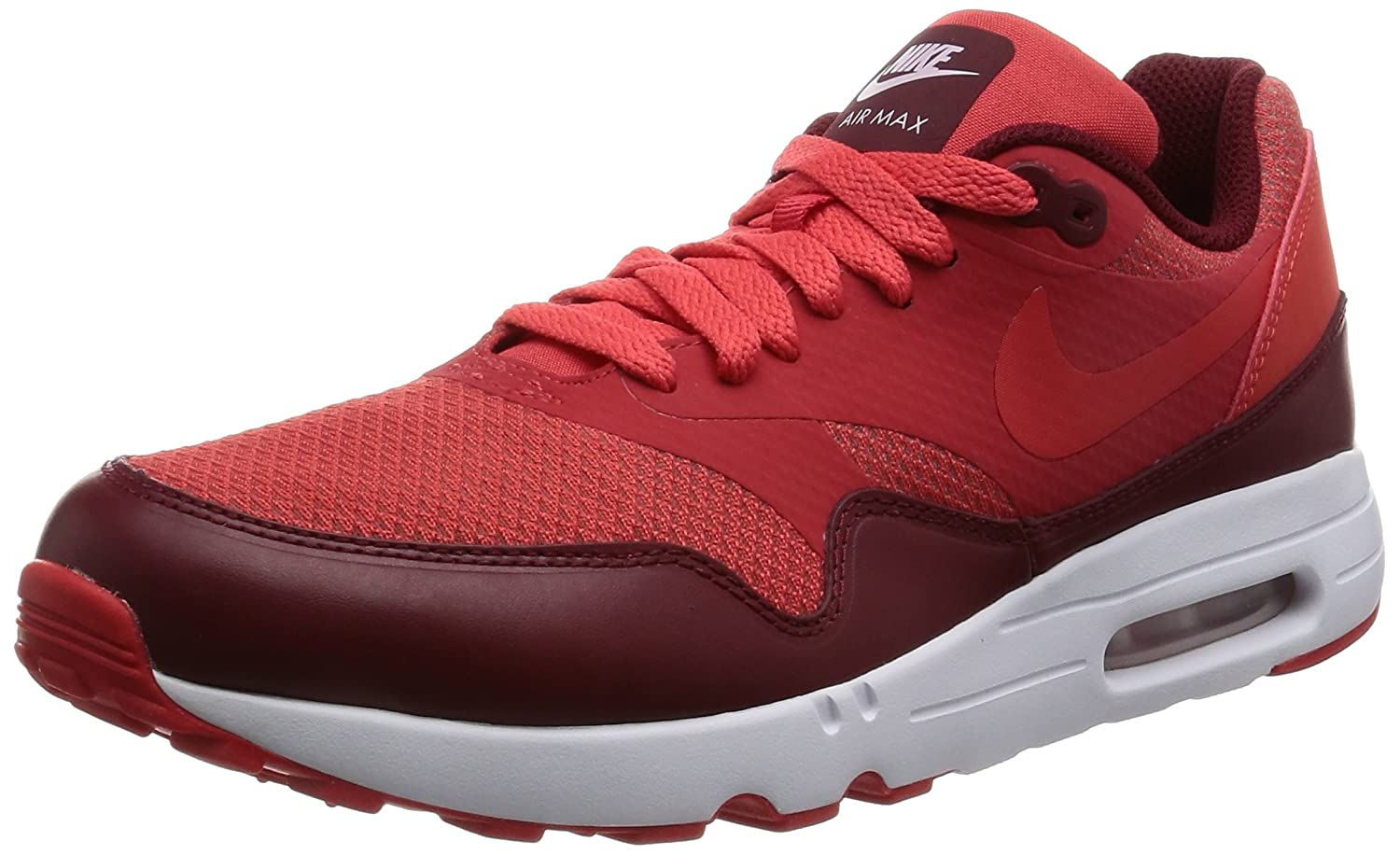 Nike Herren Air Max 1 Ultra 2.0 Essential Turnschuhe  45 EU|Rot (Track Red/Track Red/Team Red/White)