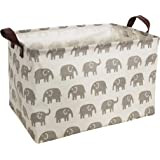 HIYAGON Rectangular Laundry Baskets,Fabric Storage Bin Storage Boxes,Collapsible Storage Basket for Toy, Clothes,Books.Shelve