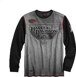 Harley-Davidson Mens Iron Block Pullover, ...