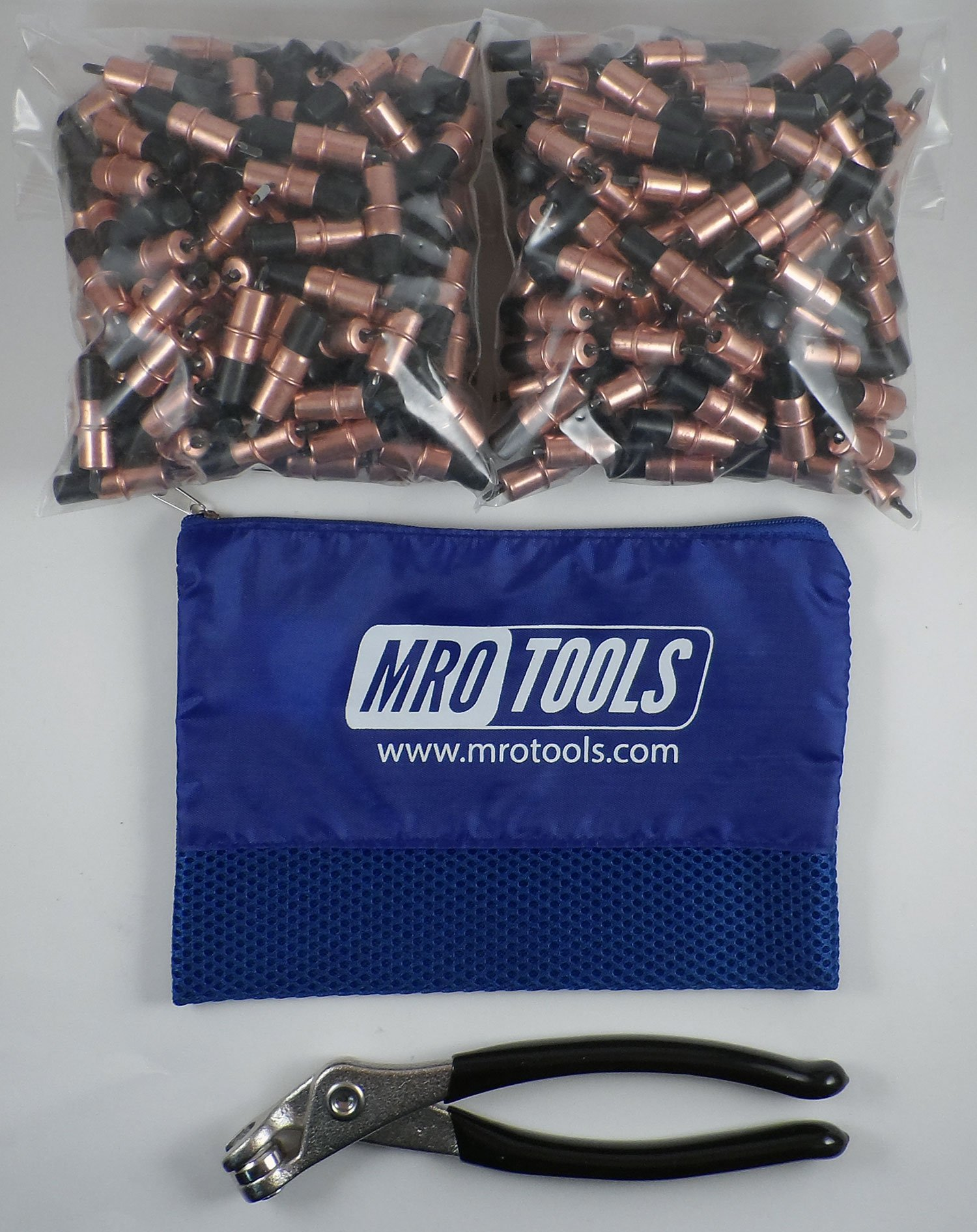 450 1/8 Extra Short Cleco Fasteners + Cleco Pliers w/ Carry Bag (KK1S450-1/8)