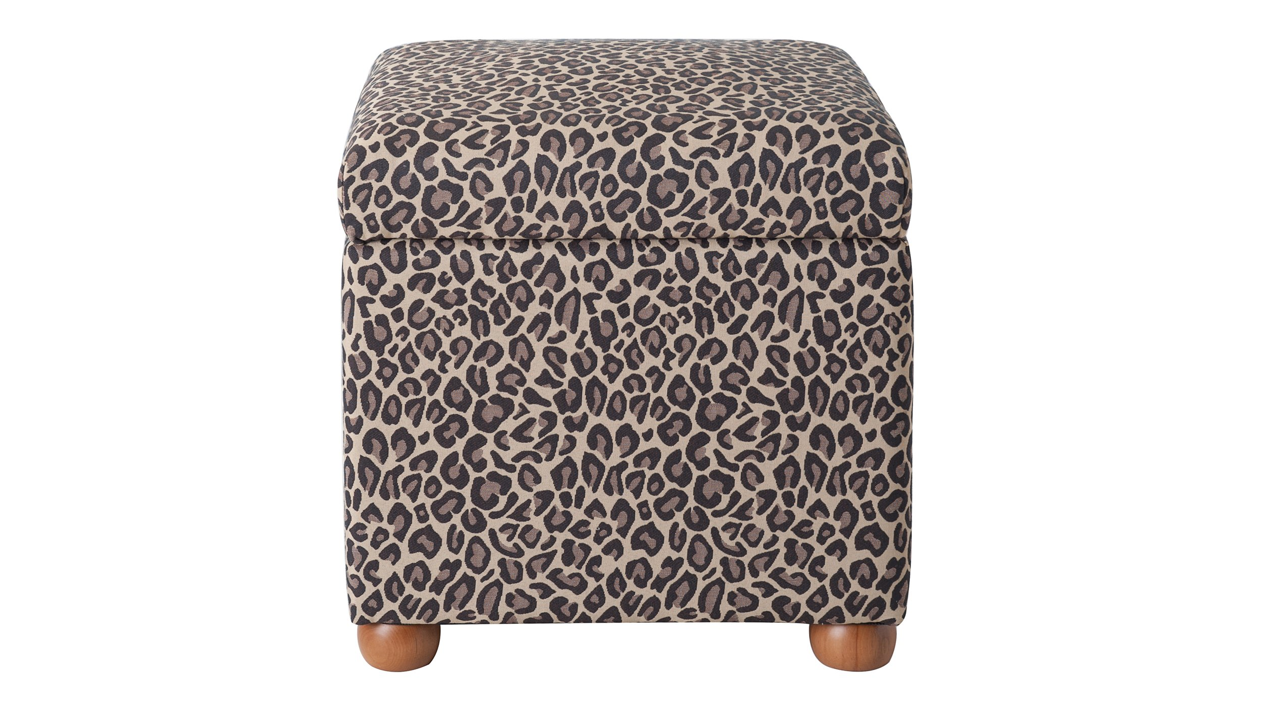 Jennifer Taylor Home 2319-655 Jacob Storage Cube Collection Modern Fabric Upholstered Animal Print Ottoman, Multi-Colored, Multicolor
