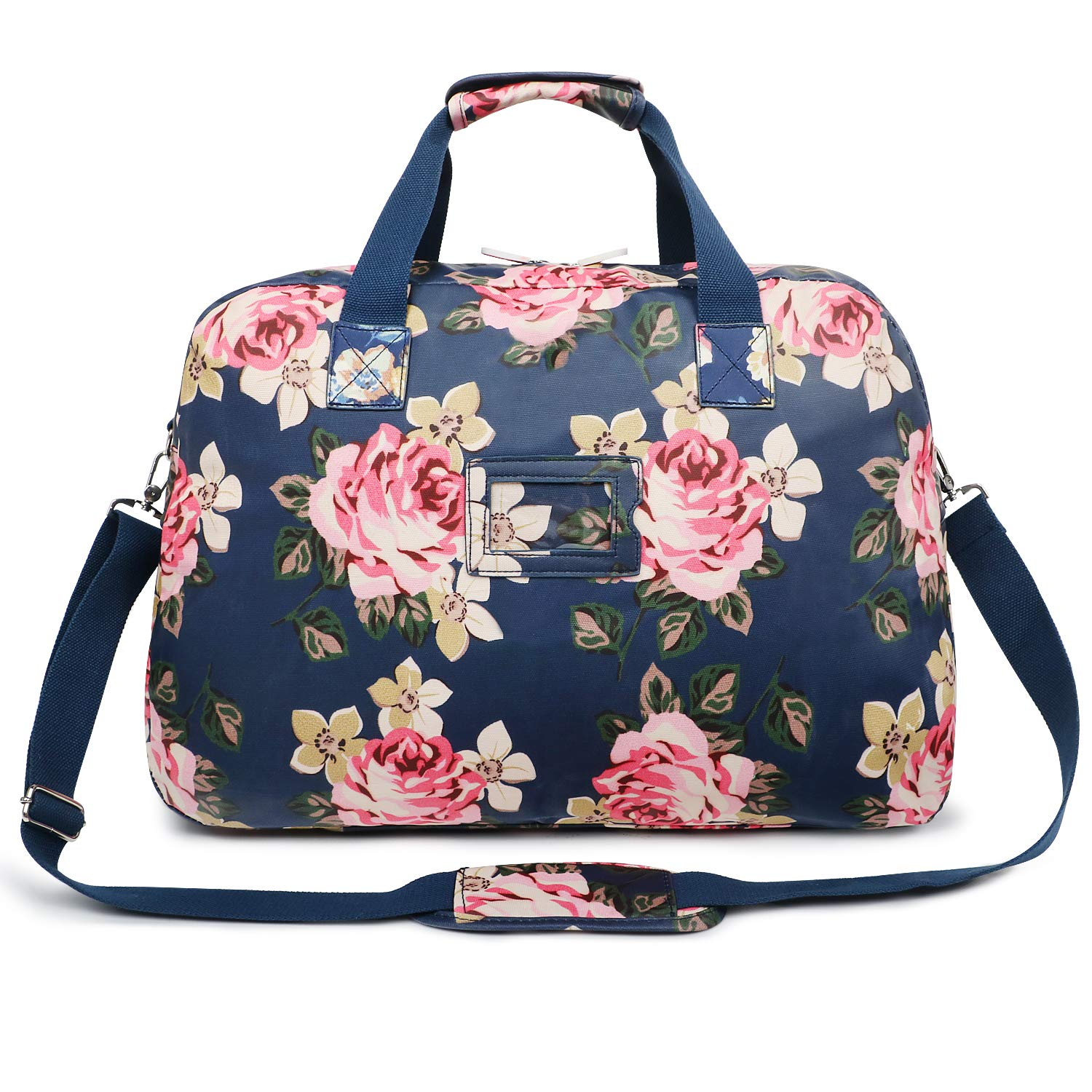 59e721dfc Amazon.com | Oflamn 29L Large Floral Duffle Bag Water Resistant Canvas  Travel Weekender Overnight Gym Bag for Women (Birthday Rose) | Travel  Duffels