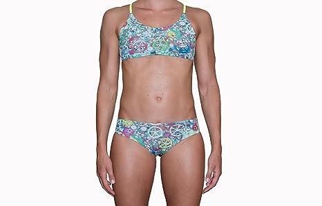 d02267daf372 IMPERA Costume da Allenamento Nuoto, Bikini - Due Pezzi da Donna,  Resistente al Cloro