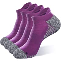 JEEDMNO Compression Running Socks Cushioned for Men and Women (2/6 pairs),Ankle Low Cut Athletic Sock with Arch Support