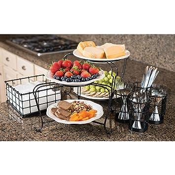 Amazon.com: Giftburg 7-Piece Stackable Buffet Caddy: Kitchen & Dining