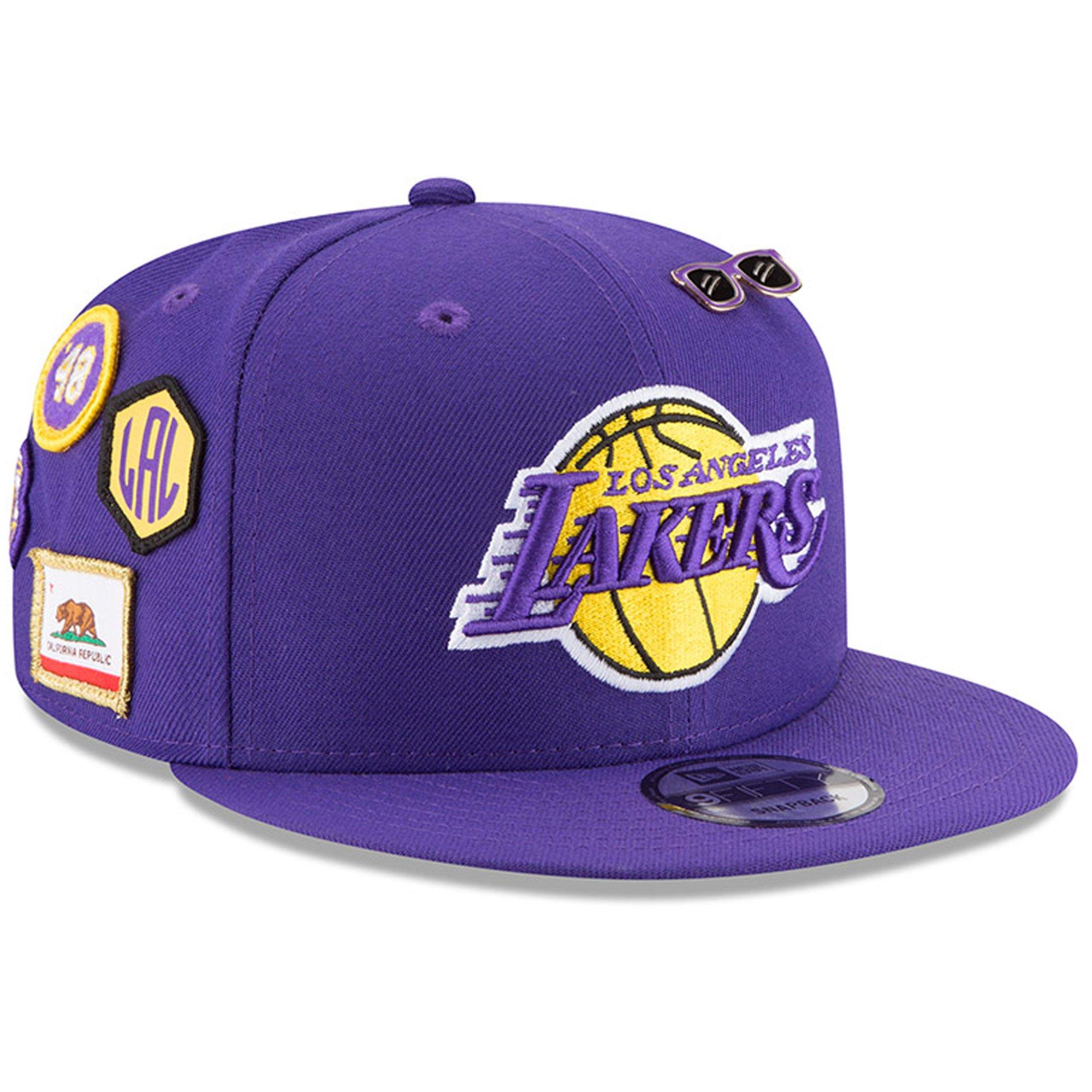 New Era Los Angeles Lakers 2018 NBA Draft Cap 9FIFTY Snapback Adjustable Hat- Purple