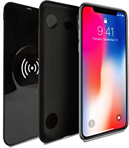 NVESS Wireless Charger with Case Compatible with iPhone X/XS - Black