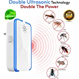 Tdas ABS Thermoplastic Ultrasonic pest Control Repeller (White)