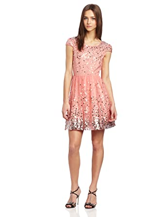 As U Wish Juniors Sequin Party Dress, Pink, 3