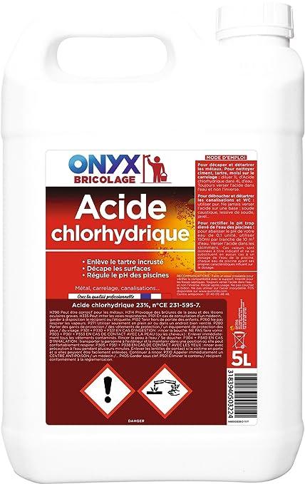 db3f93cdd3b ARDEA Acide Chlorhydrique 23% 5 L  Amazon.fr  HygiÚne et Soins du corps