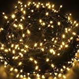 LED String Lights Fairy Twinkle Lights with Multi Flash Modes & Tail Plug Connect 33 feet 80 LEDs Decorations for Party, Wedding, Kid's Bedroom, Christmas Festival, Restaurant and Club Bar (Warm White)