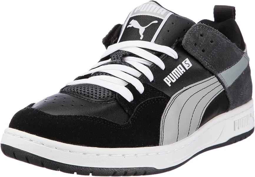 054f2debb35b Puma Grifter S sneaker Men s leisure leather shoes Black Grey Size Uk 6.5