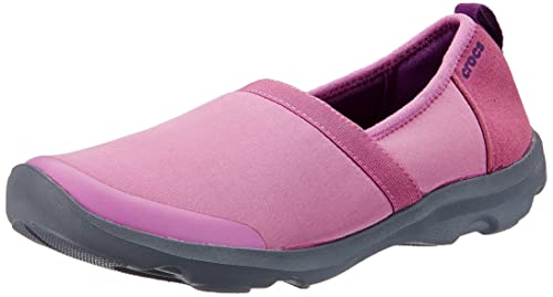 951751a22d45d crocs Women s Duet Busy Day 2.0 Satya A-line Wild Orchid and Charcoal  Sneakers -