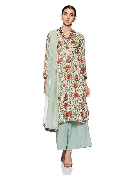 9e5cf79e7a8 BIBA Women s Straight Salwar Suit Set  Amazon.in  Clothing   Accessories