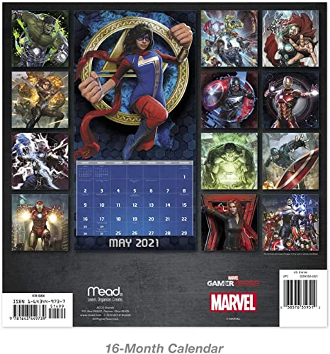 """Avengers Video Game 2021 Wall Calendar 12/"""" x 12/"""""""