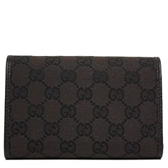 9069754476e Gucci GG Canvas and Leather Women s Trifold Wallet 263114  Amazon.co.uk   Clothing