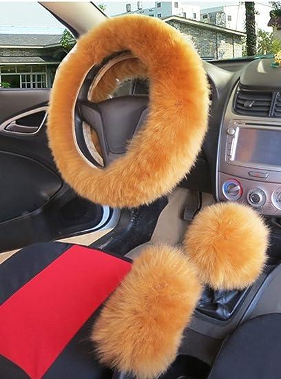 faux fur steering wheel cover warm faux wool handbrake fuzzy
