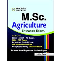 MSc Agriculture Entrance Exam. useful for AIEEA PG, Rajasthan Pre-PG and BHU PET Exam