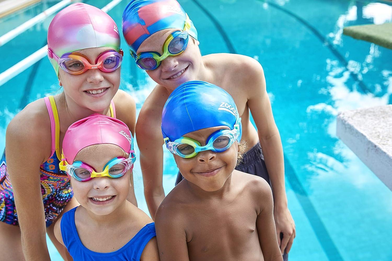 Zoggs Multi Colour Silicone Swimming Swim Pool Cap Junior