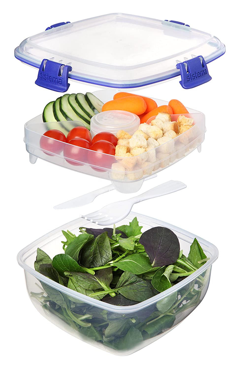 Sistema Klip It Collection Salad to Go Food Storage Container