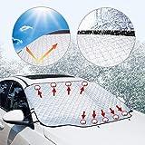 雪対策 車用 凍結防止 183*116cmカーフロントカバー シートフロントガラス ガラス 雪 氷 霜よけ 撥水 撥水加工 冬 サンシェード 日よけ シェード サイドミラー カバー コンパクト 落葉対策 防水材料 厚手 SUV車/普通車に適用