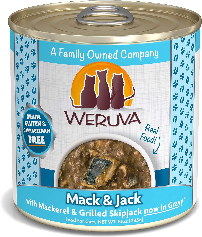 Weruva Classic Cat Food, Mack & Jack With Mackerel & Grilled Skipjack, 10Oz Can (Pack Of 12), Blue, Model:784071