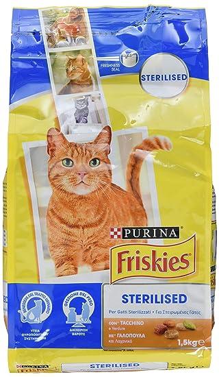 Friskies pienso para Gatos sterilizzati, con Pavo y Verduras aggiunte, 1.5 kg