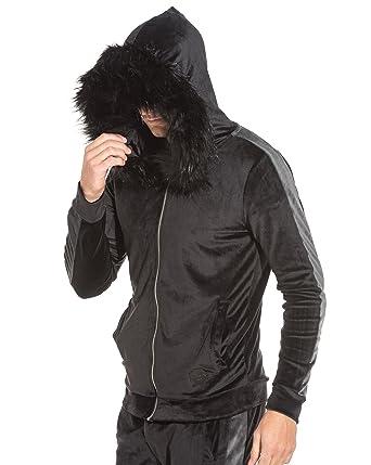 X Fourrure Homme Noir Velour Velvet PROJECT Bandes Sweat latérales B7qCC