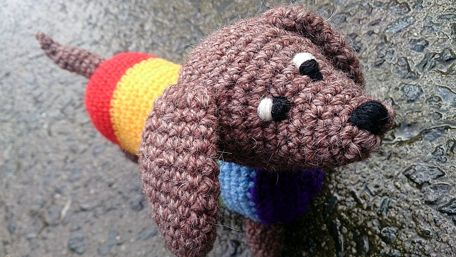 Dash the Dachshund Pup CROCHET PATTERN PDF | Etsy | 844x1500
