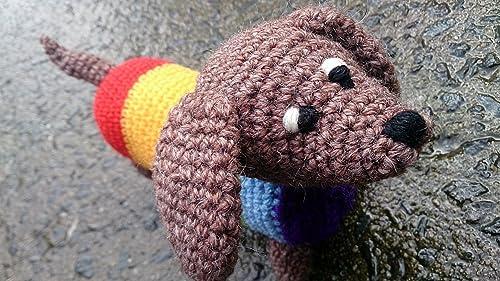 Cuddle me puppy - free amigurumi dog toy pattern | Mindy | 281x500