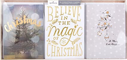 Hallmark – Tarjeta de Navidad Pack Believe In Magic