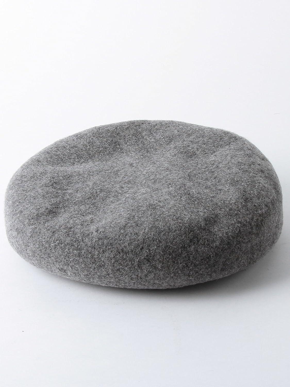 Amazon | (ユナイテッドアローズ グリーンレーベル リラクシング) UNITED ARROWS green label relaxing CF レザートリムバスクベレー帽 36386990257 1100 LT.GRAY(11) FREE | ベレー帽 通販