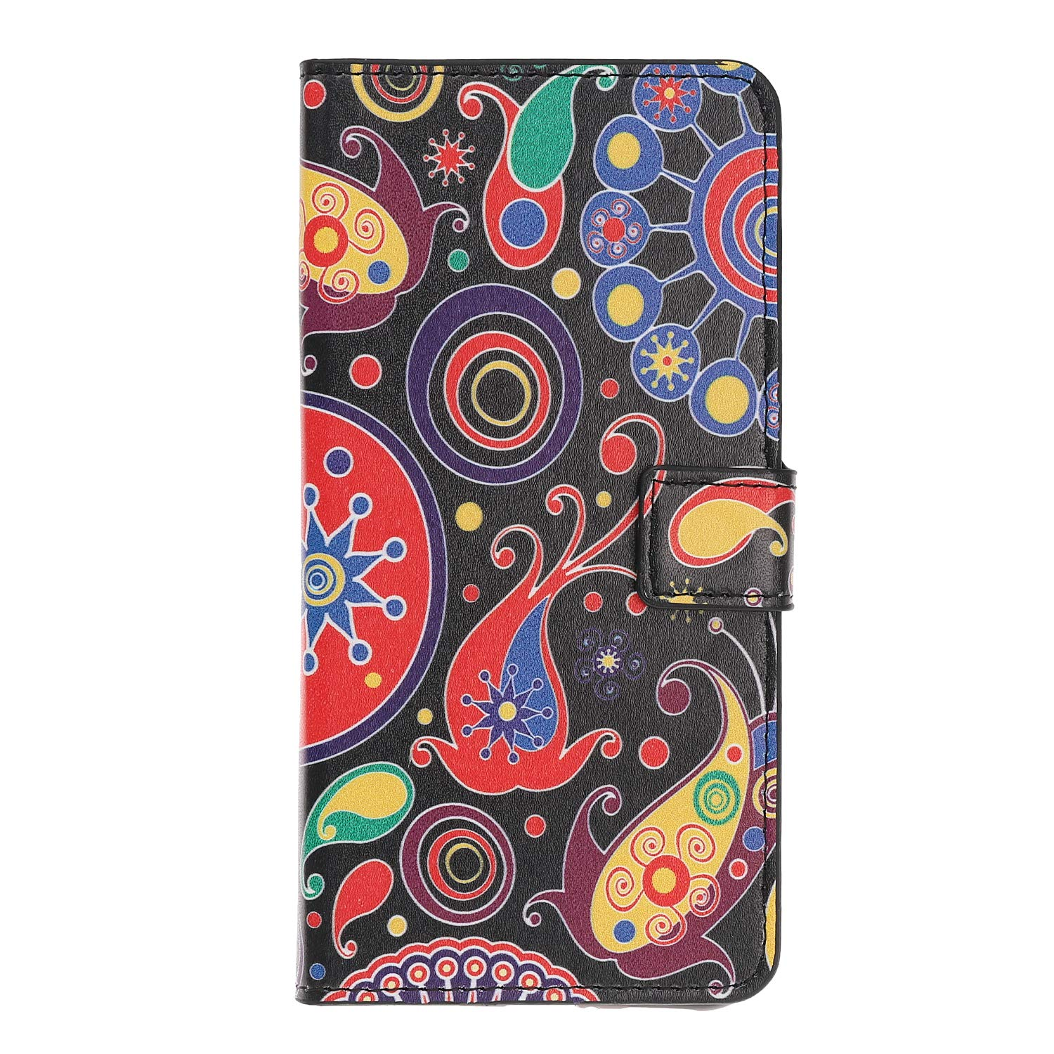 Shockproof PU Leather Flip Notebook Wallet Case with Magnetic Stand Card Holder Slot TPU Bumper Folio Protective Phone Cover for Samsung Galaxy A70 Butterfly Floral Samsung Galaxy A70 Case 2019