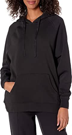 The Drop Renee Sudadera de Forro Polar Lavado con Capucha Y Costuras Pullover-Sweaters Mujer