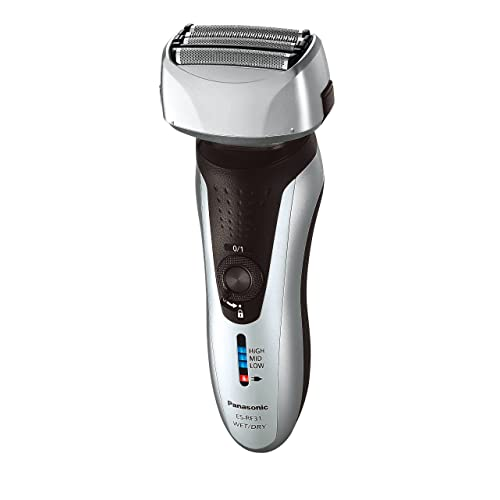 Panasonic ES-RF31 4 Blade Electric Shaver Wet and Dry with Flexible Pivoting Head for Men, Stainless, Black/Silver
