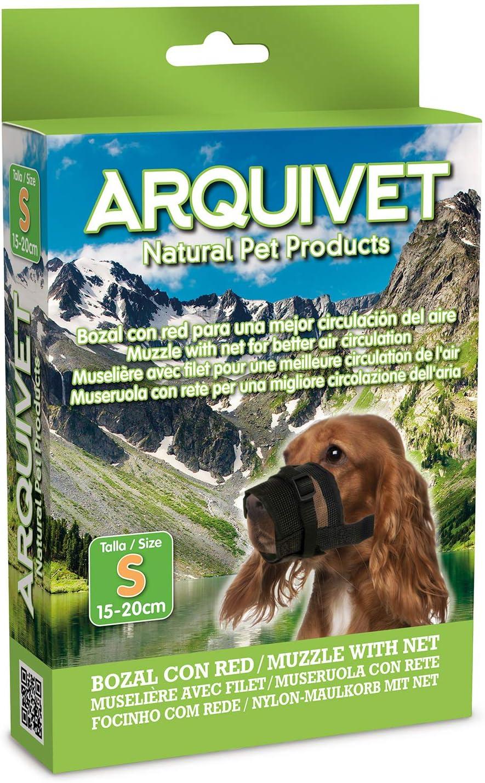 Arquivet Bozal para perros de nylon con red - S