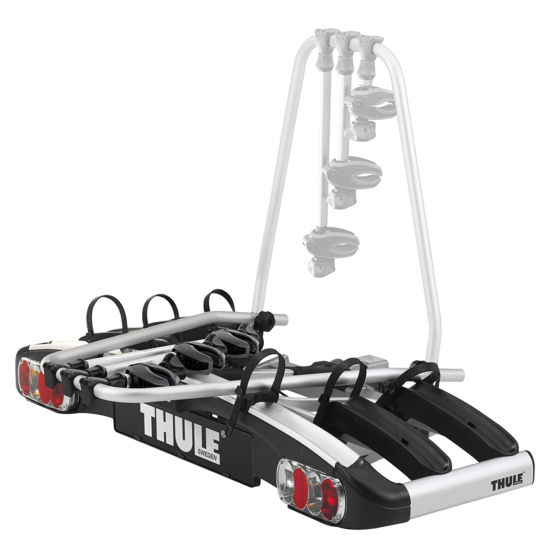 Thule 915020 EuroPower 915 Anh/ängerkupplungs-Fahrradtr/äger 2 Fahrr/äder Silber