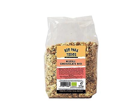 Bio para todos Muesli Chocolate Bio - 6 Paquetes de 375 gr - Total: 2250
