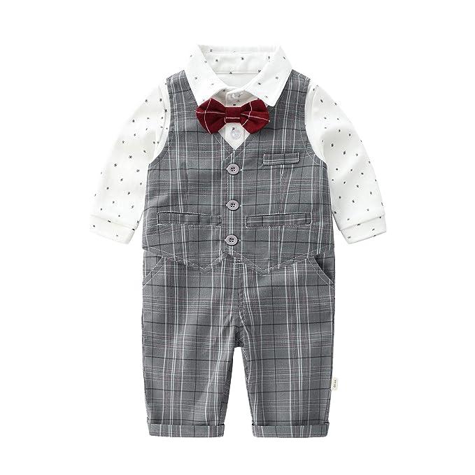 Amazon.com: Conjunto de ropa de bebé recién nacido, manga ...