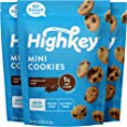 Highkey Keto Chocolate Chip Cookies - 3 Pack of Low Carb Snacks, Keto Food & Sugar Free High Protein Cookie with Zero Carbs for Healthy Snack Foods, Diabetic Friendly & Ketogenic Products