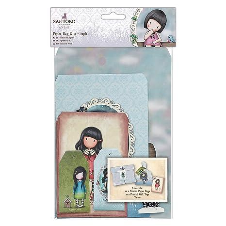 Amazon.com: (paper Bag Kits (pack Of 12)) - Santoro Gorjuss ...