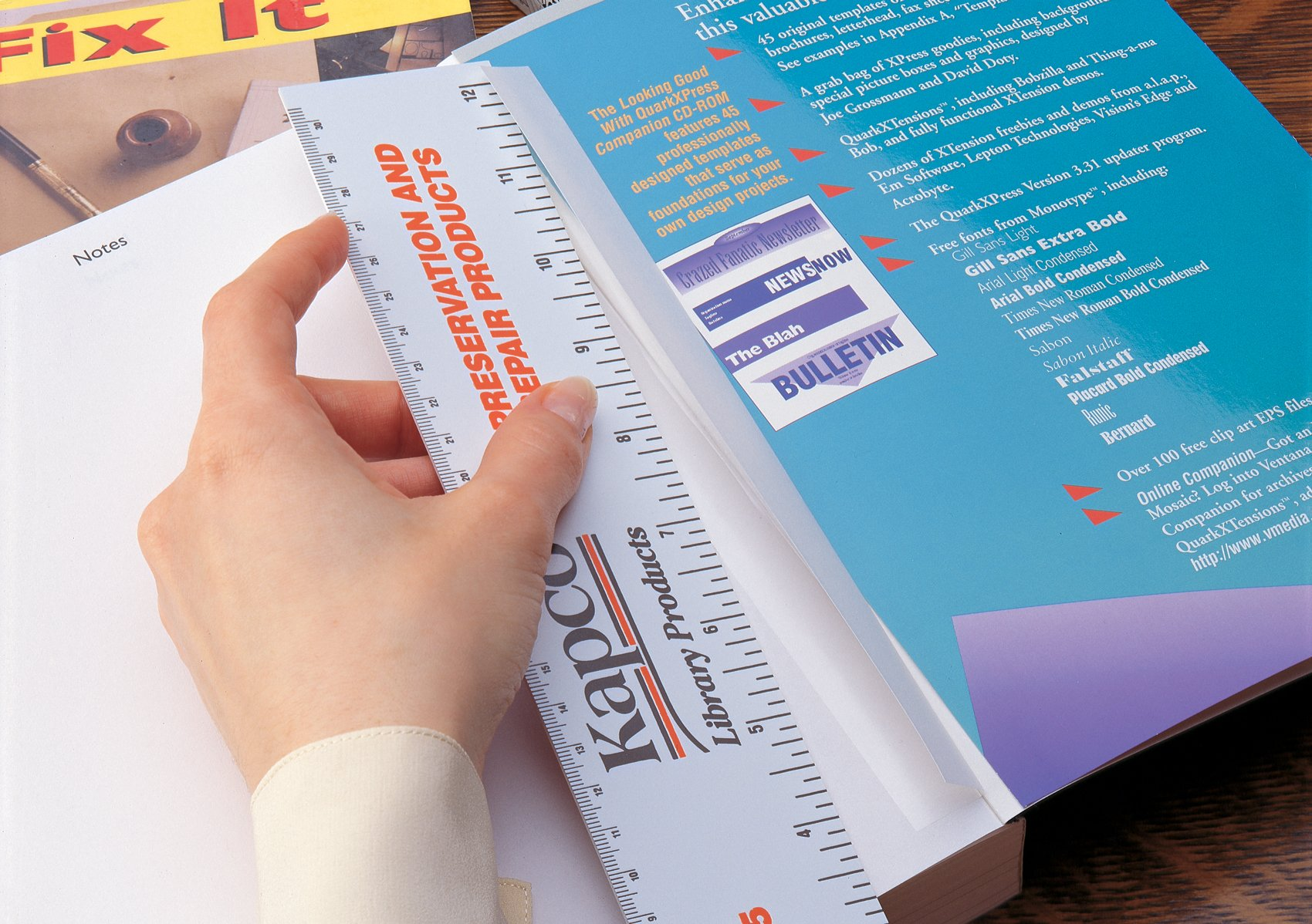 KAPCO 611553356140 Book Protection Easy Bind Repair Tape Peel and Place, Gossy, Polyester by KAPCO