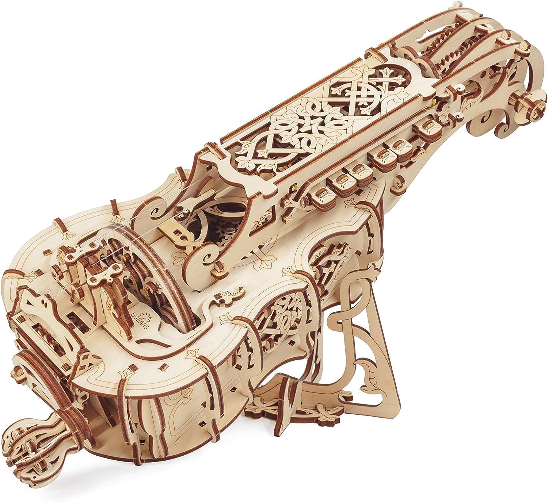 UGEARS Zanfoña-Instrumento Musical de Madera-Set de Construcción-Kit de Puzle 3D Bricolaje Puzzle (4820184120648)