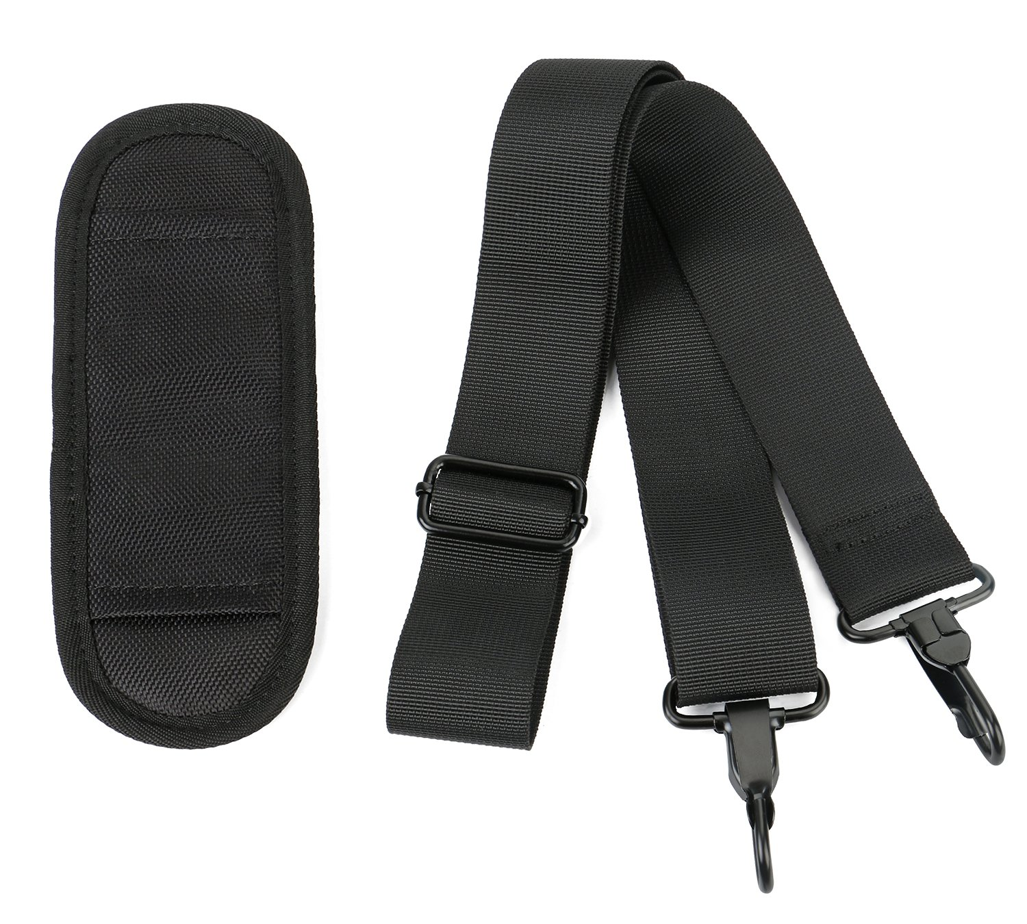 Laptop Shoulder Strap, Adjustable Bag Strap with Pad for Briefcase - Black by Ytonet (Image #5)