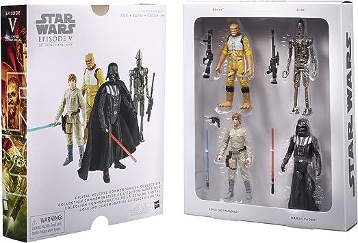 Star Wars 4 piezas Set De Figuras - Episode V - Digital Lanzamiento Colección - móvil star wars figuras: Amazon.es: Juguetes y juegos