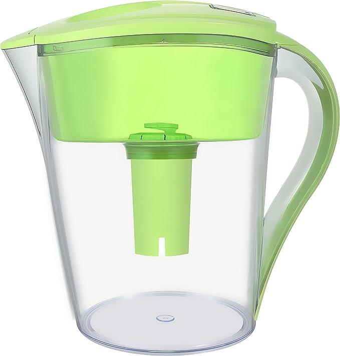 Ledoux aguas Taza de 10 filtros de agua jarra con 1 filtro, sin ...