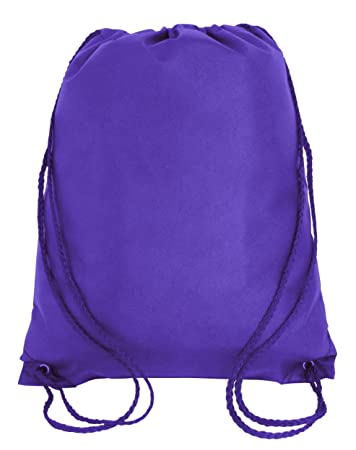 50 PACK - Economical Non Woven Well Made Drawstring Backpack Bags Bulk -  Giveaway Church e077f0bb8