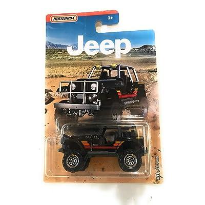 MB Serin Matchbox Jeep CJ-7 4x4 Black 2020 on Jeep Card: Toys & Games